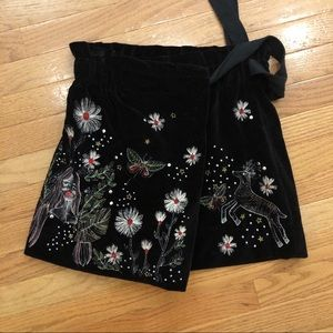 Zara Embroidered Short / Skirt / Skort